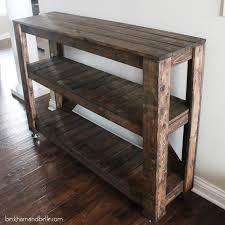 Wood Entry Table Easy Diy Wooden Entryway Console Table Entryway Console