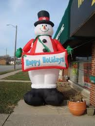 Frosty The Snowman Outdoor Christmas Decorations by Gemmy Frosty The Snowman 10 Ft Tall Airblown Illuminated