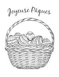 joyeuse pâques dessin coloriage gratuit artherapie ca