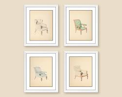 chair wall art prints 4 piece framed wall set dining room decor