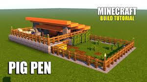 minecraft how to make a pig pen survival house tutorial 2017