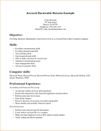 Payroll Resume Sample by Accounts Receivable Resume Templates Business Proposal Templated