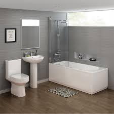 1700x700mm cesar straight shower bath suite