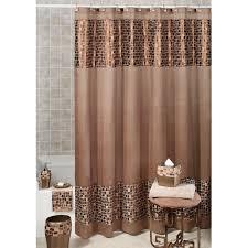 bronze mosaic stone shower curtain 70 x 72