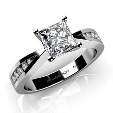 white and black diamond engagement rings electra princess cut diamond engagement ring setting 0 19ct