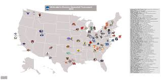 Morgan State University Map by Ncaa Men U0027s Basketball Billsportsmaps Com