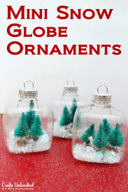 snow globe mini ornaments tutorial