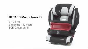 recaro siege auto isofix recaro monza is the child seat that grows along