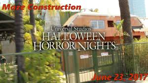 halloween horror nights pass halloween horror nights 2017 construction update 1 youtube