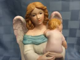 home interior guardian angel with baby porcelain figurine 1434