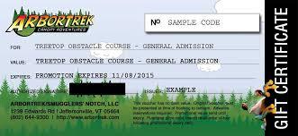 Vermont Travel Voucher images Zip line canopy tour adventure park gift certificate jpg