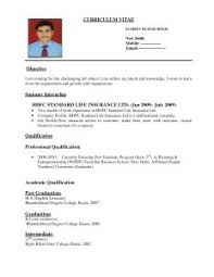 The Best Sample Of Resume by Examples Of Resumes Cv Formats Curriculum Vitae Format