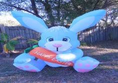 Easter Bunny Lawn Decoration Kit wonderful easter yard inflatables 300cm 10ft inflatable easter