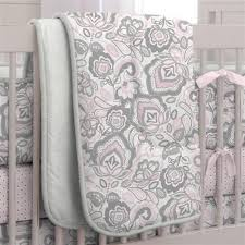 pink flower garden crib comforter carousel designs