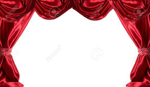 White Satin Curtains Satin Curtains Isolated On White Stock Photo Picture And