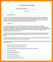 6 statement of work template graphic resume