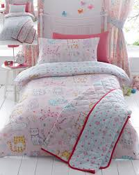 girls quilt bedding kids girls cute cats duvet quilt cover bedding bed sets or