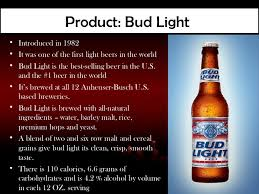 is bud light made with rice mkt budweiser