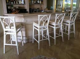 decor white rattan bar stools and bar cabinet with kitchen island