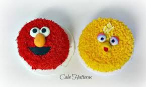 sesame birthday sesame birthday with elmo and big bird smash cakes cake by donna