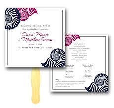Ceremony Program Fans Amazon Com Seashell Border Wedding Ceremony Program Fan
