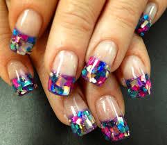 nail art winter mistletoe frenchure nail art design easy tutorial