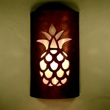 pineapple outdoor light fixtures closed top pineapple design in antique copper outdoor southwest
