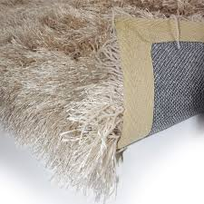 Thick Pile Rug Beige Shaggy Rugs Roselawnlutheran