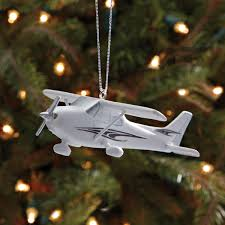 piper aztec cub and cessna 172 christmas ornaments from