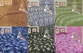 Zebra Print Duvet Cover Children Kids Curtains Animal Army Zebra Print Duvet Cover Sets