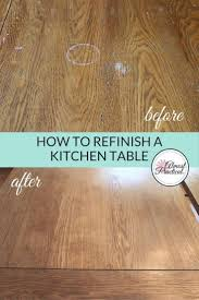 laminate table top refinishing how to stain a wood veneer kitchen table top a refinishing diy