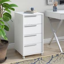 Desk With Filing Cabinet Drawer Rolling Filing Cabinets You Ll Wayfair