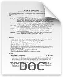Sample Resume In Doc Format Resume For Walt Stoneburner Resume Doc Format Resumes Word