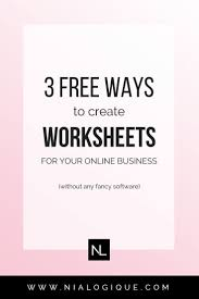 How To Make Worksheets Tutorial 3 Ways To Create Worksheets For Your Online Business