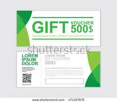 green gift voucher vector illustration gift voucher vector design template set stock vector hd royalty