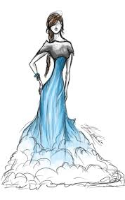 water fall dress sketch by thebiub on deviantart