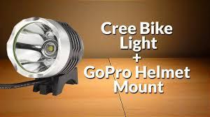 best helmet mounted light diy cree bike light gopro helmet light mount youtube