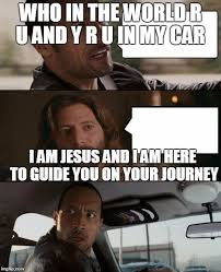 The Rock Meme Car - the rock driving jesus imgflip