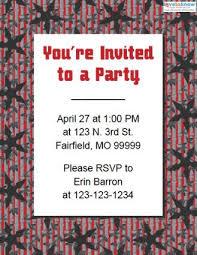 ninja birthday party invitations lovetoknow