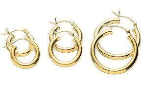 14k gold hoop earrings up to 64 on italian hoop earrings 3 groupon goods
