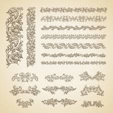 floral ornaments borders design vector free vector in adobe