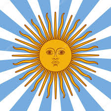 Flag Yellow Sun Argentina Card Poster Vector Illustration With Sun And Flag