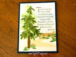 handmade watercolor cards rubber stamped card inspiring watercolor tree joyful