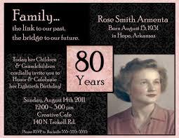 80th birthday invitations 80th birthday invitation template business