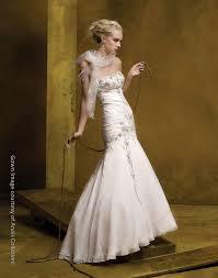 cream silk drop waist wedding dress with beaded bodice