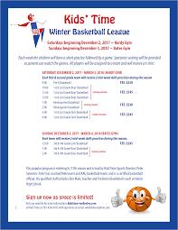 winter basketball league 2017 kidstime wellesley