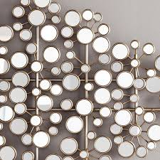 of circles mirror style removable decal vinyl art mural wall modern silver mirror circle metal wall sculpture art modern geometric