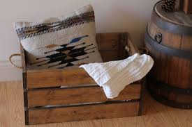 rustic wooden crate rustic home decor blanket crate wood