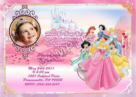custom birthday invitations disney princesses photo custom birthday party invitation jpeg file