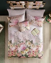 painted poise cotton double duvet cover mid pink gifts for her